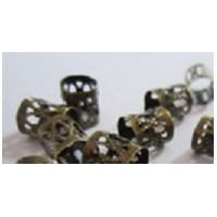 Perles cheveux et barbes bronze antique