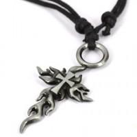 Collier croix tribal