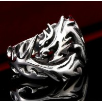 Bague dragon tribal
