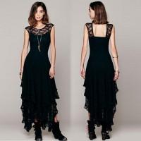 Robe noir dentelle