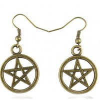 Boucle d'oreilles pentagramme