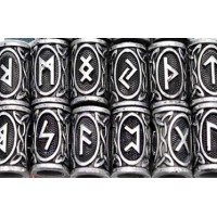 Perles cheveux et barbe rune et triquetra