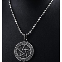 Collier rune pentagramme