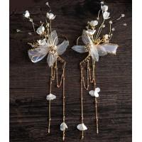 Tour d'oreille papillon et fleurs