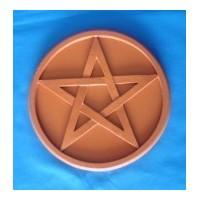 pentacle d'autel brun