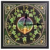 Horloge pentagramme et lierre