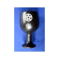 Calice en céramique petit avec pentagramme