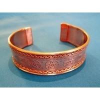 Bracelet celtique pentagramme de cuivre