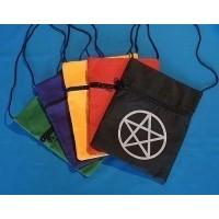Sac pochette noir avec Pentagramme