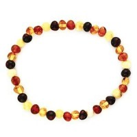 Bracelet adulte ambre multicolore