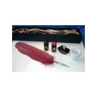 Set calligraphie avec plume de dindon