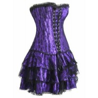 Robe  bustier violette