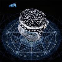 Bague poison pentagramme