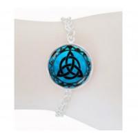 Bracelet triquetra bleu argenté