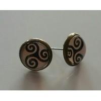 Boucle d'oreilles bronze antique