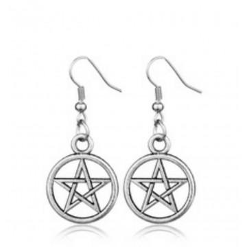 Boucle d'oreille pentagramme